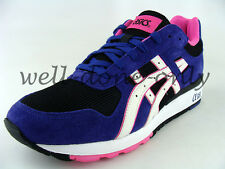 retro Asics GT-II 2 black white purple pink violet mesh vtg mens running shoes