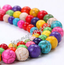 New Wholesale Turquoise Gemstone Round Loose Spacer Beads Jewelry DIY 4/6/8/10mm