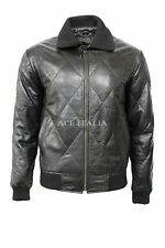 'DRIVE' SILVER SCORPION Mens Black Leather Fitted RYAN GOSLING Film Movie Jacket