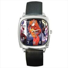 Neon Genesis Evangelion Round & Square Leather Strap Watch - Anime Manga