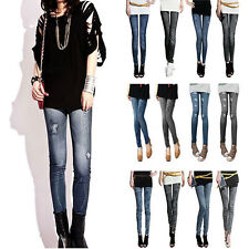 New Women Sexy Demin Jeans Look Jeggings Skiny Tights Pants