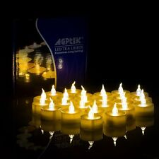 AGPtek 100 Battery Operated LED Flameless Flickering Flashing Tea Light Candle
