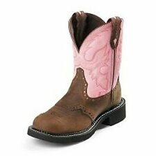 L9901 Justin Ladies Gypsy Cowboy Boots Bay Apache w/pink top NEW in BOX!