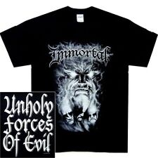 Immortal Unholy Forces Of Evil Shirt S M L XL Black Metal Officl T-Shirt Tshirt
