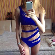 New Women Sexy One Shoulder Bandage Cut Out One Piece Swimsuit Swimwear FNHB