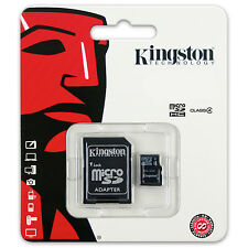 Kingston microSDHC Class 4 Memory Card 4MB/s opt. SD Adapter & USB Adapter SDC4