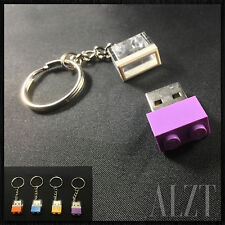 8GB USB Flash Drive Keychain in Original 1x2 LEGO Bricks ~ 4 Colors