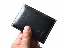 New Real Genuine Leather Slim Small Credit Card Wallet ID Holder