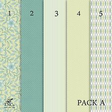 A4 Patterned card, set of 5 A4 sheets in your choice of paper, sticker and card