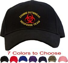 Zombie Outbreak Response Team Embroidered Baseball Cap - Available 7 Colors Hat