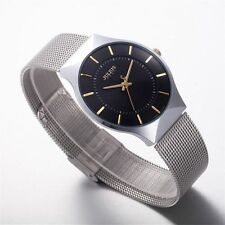 Fashion Men's Stainless Steel Military Sport Casual Analog Quartz Wrist Watch