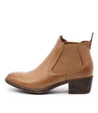 New I Love Billy Amona Tan Leather Women Shoes Casuals Boots Ankle Boots