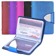 Holder Synthetic Leather Card Credit Business Case Cards 26 For Wallet Purse ID