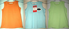 LOT 2 PC GEORGE Basic Tank Knit Stretch Cotton Cami Sleeveless Shirt Top Girls