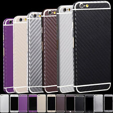 Carbon Fibre Body Skin cover case Protector Wrap Sticker Decal For iPhone SPCA