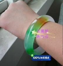 HOT Natural Grade A Jade Jadeite Three-color Bangle Bracelet inner+gift NEW