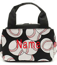 "Personalized Monogram Baseball 9"" Insulated Cooler Thermal Tote Box Lunch Bag"