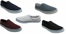 MENS PLIMSOLES SLIP ON PUMPS TRAINERS PLIMSOLLS ESPADRILLES SHOES CANVAS BOYS SI