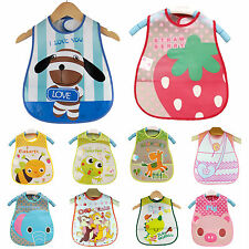 Baby Kids Child Toddler Infant Cute Boy Girl Bib Waterproof Saliva Towel Feeding