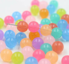 50-200pcs Candy color beads round bead acrylic beads color beads scattered bead