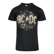 Official T Shirt AC/DC Black ROCK OR BUST Logo Print Band Tee All Sizes