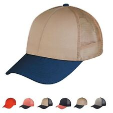 LOW CROWN COTTON TWILL 6 PANEL MESH BASEBALL TRUCKER HATS HAT CAPS