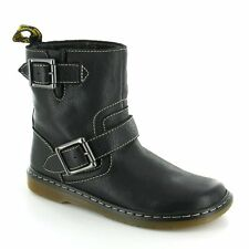 Dr Martens Elate Gayle Womens Leather Biker Chukka Boot Black