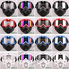 New RETRO Motorcycle Vespa Paintball Sport Goggles & Mask Full Face Protection