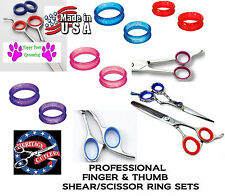 RUBBER Finger&Thumb Ring Sizing Insert SET for GEIB,OSTER,ANVIL Shears Scissors