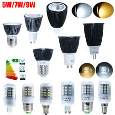 1/5/10X 3.5W 4W 5W 7W 9W MR16 GU10 E27 G9 E14 COB LED SMD Bulbs Spot Light Lamps