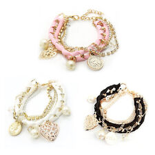 Bangle Lovely Cute Korean-style Hand-woven Fashion Multilayer Bracelet LO