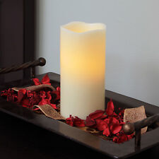 Flipo Pacific Accents Ivory Melted Wax Pillar Flameless LED Candle with Timer