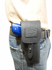New Barsony Black Leather Flap Gun Holster Glock Compact, Sub-Compact 9mm 40 45