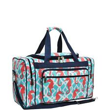 "Personalized Coral Sea Horse Design 20"" Duffle Sports Gym Tote Bag Monogram"