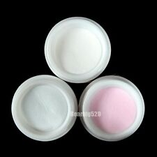 Clear Pink White Polymer Acrylic Powder Nail Art 3 Color Powder Tips Decoration