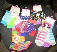 littleMissMatched Girls' cute Ankle Socks Sz 6-8 **COLORFUL! * NEW * mismatched!