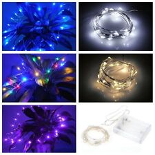 Silver copper wire Battery Operated Fairy String Lights Decorations Xmas Tree