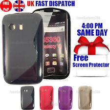 GRIP S-LINE SILICONE GEL CASE & FREE SCREEN PROTECTOR FITS GALAXY Y S5360