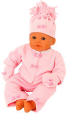 PINK FLEECE SET FOR  BABY ANNABELL JACKET/TROUSERS/MITTENS /HAT ALL DOLL SIZES!