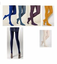 100 Denier Opaque Tights Coloured Soft Thick Opaque Tights Medium -XL  size
