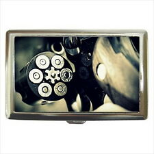 NEW Cigarette Credit Business Card Holder Bullet Gun Colt Pistol Ammo