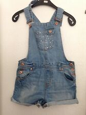Girls River Island Age 9-10 Short Dungarees