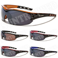 Mens X Loop Sports Sunglasses - Cool Black & Orange Frames - Extreme Sports