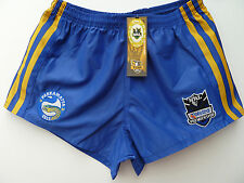"""NRL PARRAMATTA EELS RUGBY LEAGUE SUPPORTERS SHORTS """"TELSTRA LOGO"""" - BRAND NEW"""