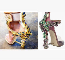 Bling Rhinestone Womens Buckles High Heel Sandals Straps Special Party Shoes SZ