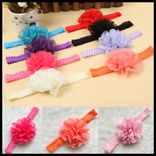 New Fashion Aesthetic baby Girl Soft Lace Flower Hair band Cute Headband Hair LF