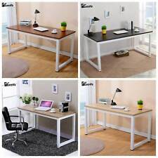 Home Office Wooden Computer Desk PC Laptop Study Writing Table Workstation Black