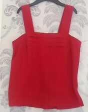 Women's Red Cropped Top In Size 14