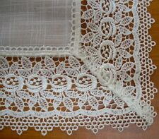 French Country Doiley SEVILLE WHITE Doily Lace Placemat, Runner, Table or Duc...