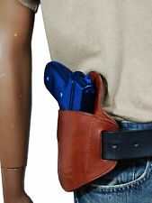 New Barsony Burgundy Leather Belt Slide Gun Holster for Taurus Full Size 9 40 45
